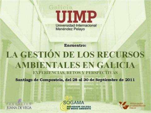Imaxe - Encontro: A xestión dos recursos ambientais en Galicia: experiencias, retos e perspectivas